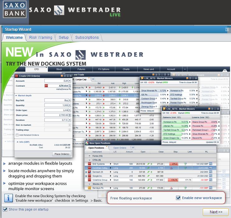 MSN Trader morphs into Saxo WebTrader